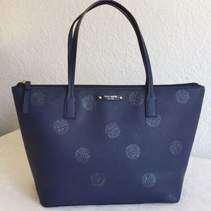 Kate Spade Hanoi Haven Lane Navy Glitter tote bag